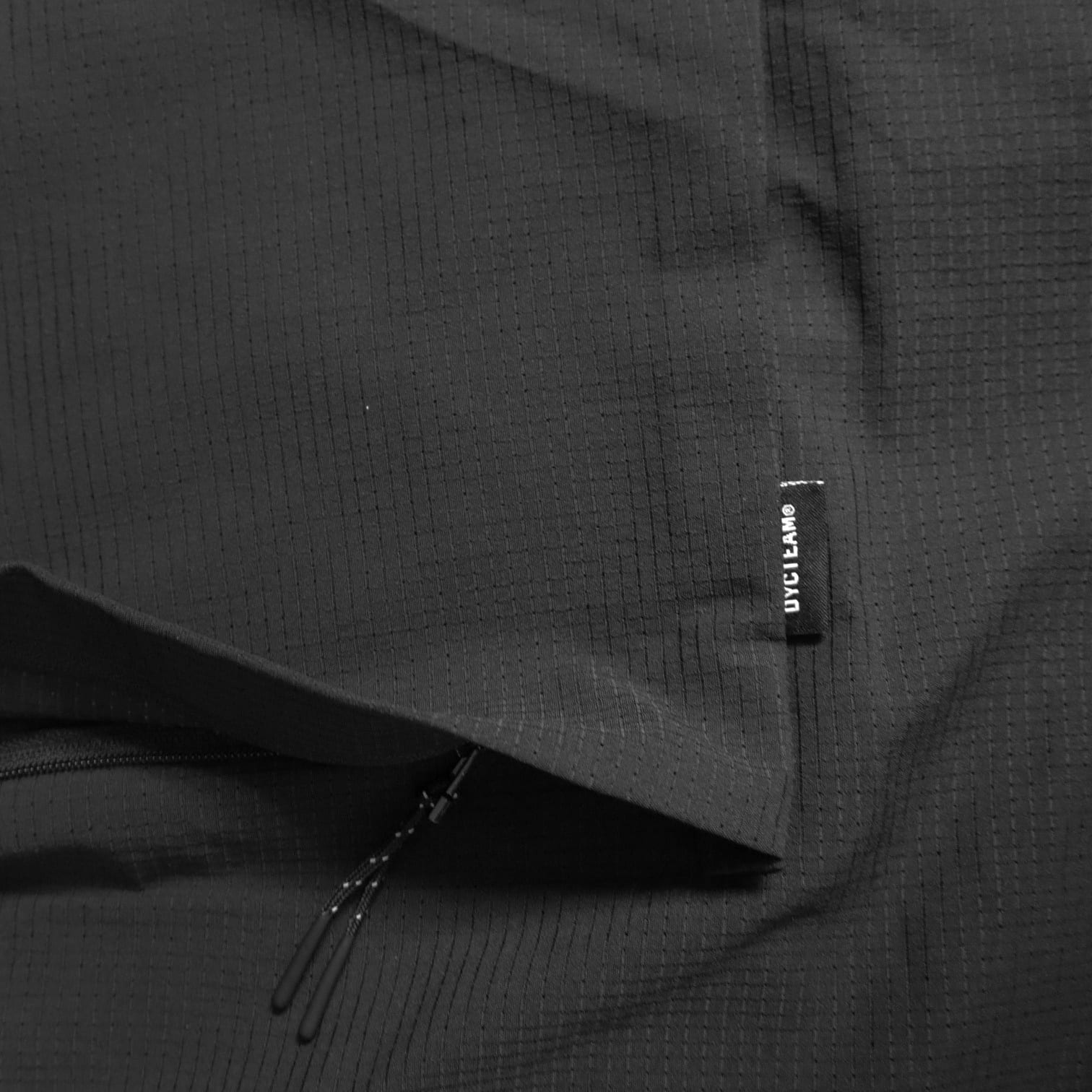 DYCTEAM-See-Through Trench Coat-Brand-Logo-Tag