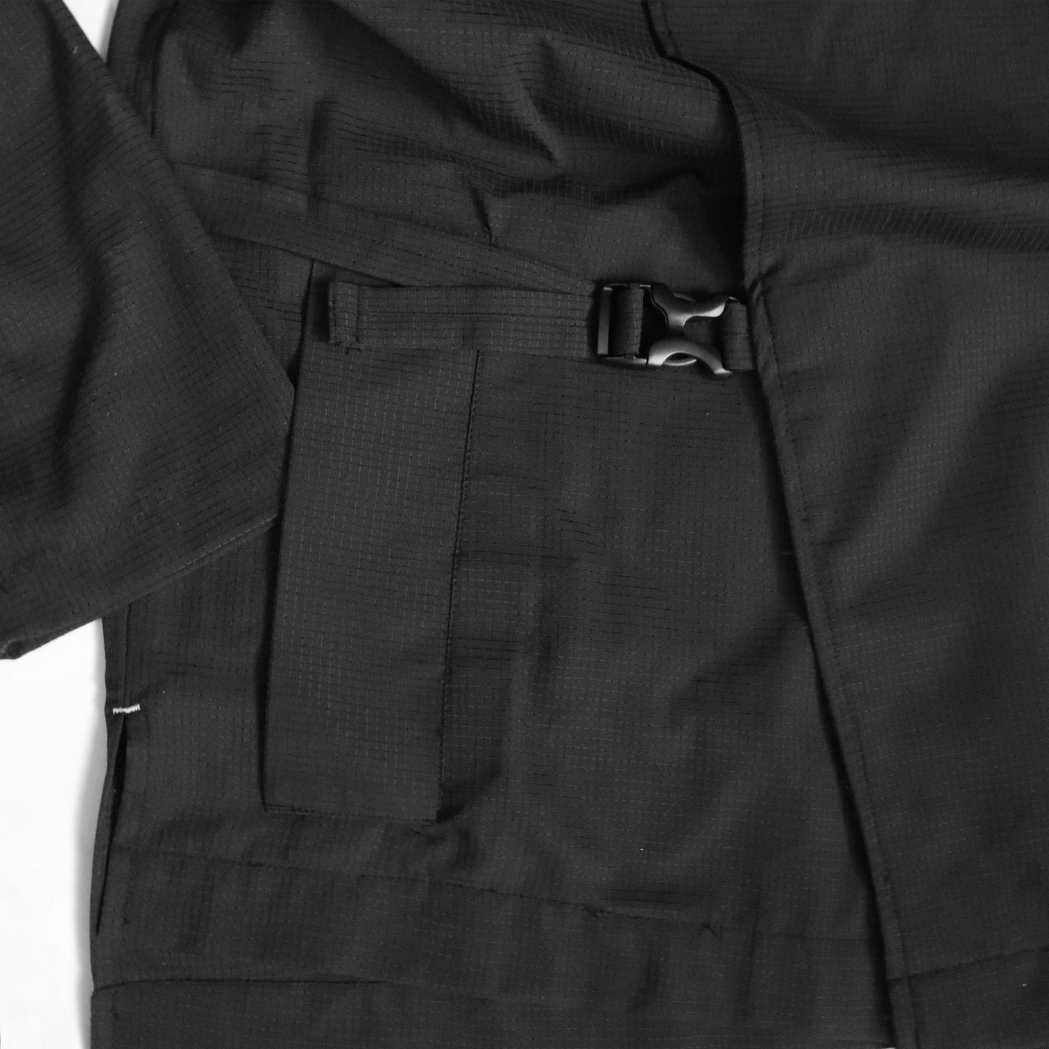DYCTEAM-See-Through Trench Coat-Buckle-Fastening